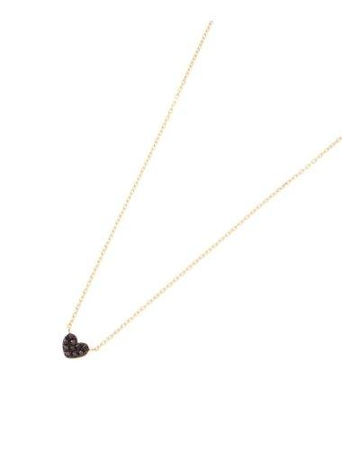 ブラックダイヤハート ネックレス