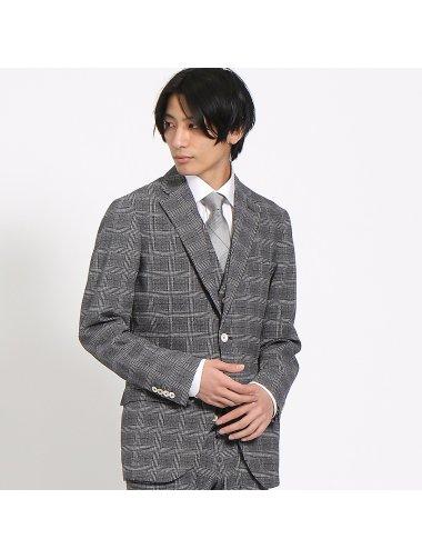 【3ピース対応】グレンチェックトラベラーズジャケット
