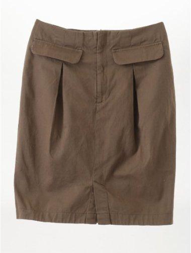 ボックスタック膝丈スカート