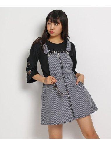 TOKO デニムジャンパースカート