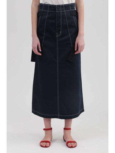 《DICKIES》コラボカラーステッチロングスカート