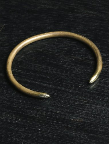 buffalo bangle brass antique gold