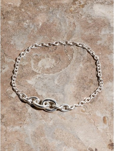 IDEALITE: LINK CHAIN BRACLET SMALL:イデアライト リンクチェーンブレスレット スモール