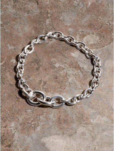 IDEALITE:LINK CHAIN BRACLET WIDE:イデアライト リンクチェーンブレスレット ワイド
