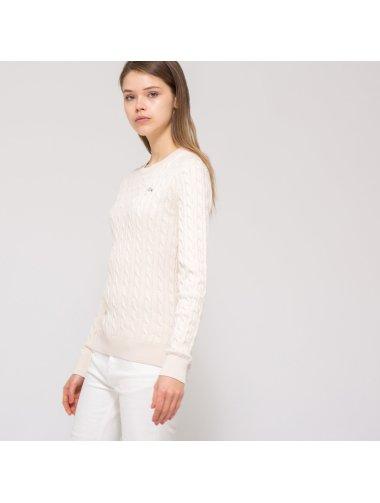 (W)ケーブル セーター