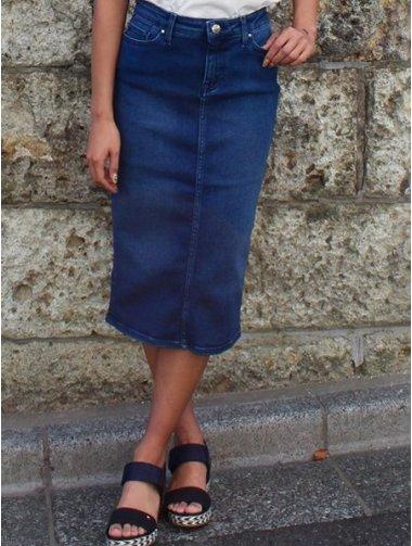 (W)デニムタイトスカート