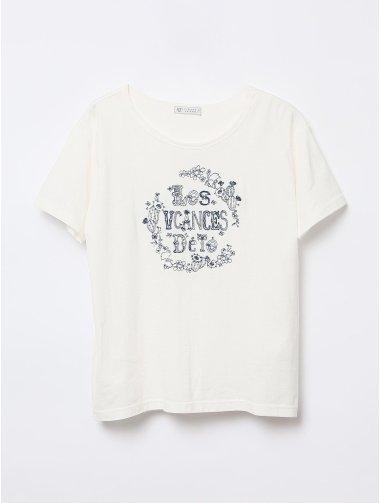 トロピカル刺繍Tシャツ